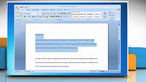 how to double space lines in microsoft acirc reg word
