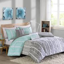 intelligent design adel comforter set full queen size aqua light grey grey geometric chevron 5 piece bed sets ultra soft microfiber teen bedding