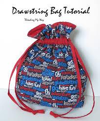 Drawstring Bag Pattern Mesmerizing Threading My Way Drawstring Bag Tutorial