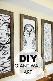 diy giant wall art placeofmytaste  on large wall art picture frames with art the thing that makes our livesand homes beautiful