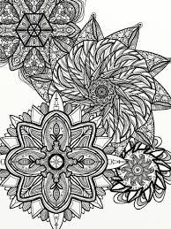 Disegni Da Colorare Pagina Mandala Floreale Arte Digitale Etsy