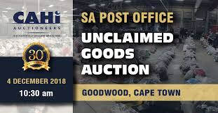 Sa Post Office Unclaimed Goods Auction Cahi Auctioneers