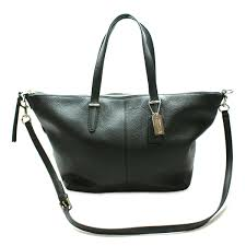 authentic home coach bleecker cooper leather satchel cross bag black thumbnail to zoom