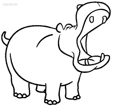 printable hippo coloring pages for kids