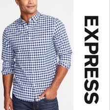 Express Dress Shirt Size Chart Express Gingham Button Down Shirt