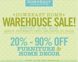 Downeast Furniture & Decor Warehouse sale – 20 90% off Provo