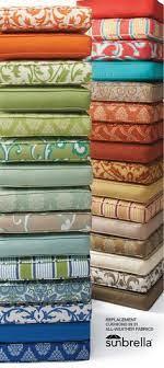 fabric outdoor cushions etc