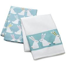 gray kitchen towels bunny dish towels set of two purple and grey tea towels