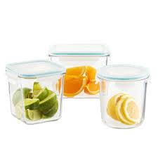 Set of Glasslock Slimline Food Storage with Lids ...
