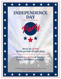 Block Party Flyer 020 Free Block Party Flyer Template Word Independence Day