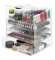 whitmor 5 tier acrylic cosmetic organizer clear image