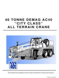 Demag Ac 40 1 City Specifications Cranemarket