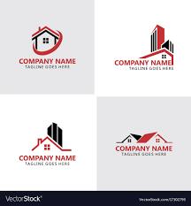 Home Building Logos Royalty Free Vector Image Vectorstock