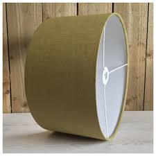 details about olive green pure linen light shade lamp shade cylindrical shade pendant