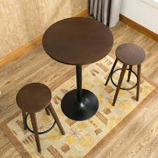 bar table set 3 bar stool table set indoor kitchen dining cafe furniture round bar table
