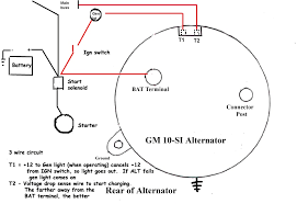 gm 3 wire alternator wiring diagram in alt carlplant how to wire an alternator to charge a battery at Alternator Connections Diagram