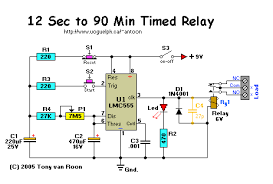 timer circuit diagram relay timer image attempting to build repeat cycle timer electronics forum on timer circuit diagram relay