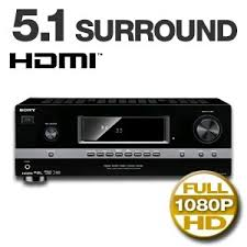 home theater amplifier 5 1. sony str-dh510 5.1-channel home theater receiver amplifier 5 1 0