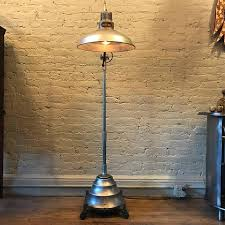 american industrial steel converted sun floor lamp by general electric for