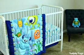 monsters inc baby nursery monster crib bedding set on storage bins ad ideas room