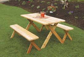 cedar wood outdoor dining furniture table set amish