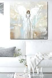 grey and white wall art print art angel painting fine art guardian angel grey white cream grey and white wall art  on large white and gold wall art with grey and white wall art gray and gold wall art visegadget