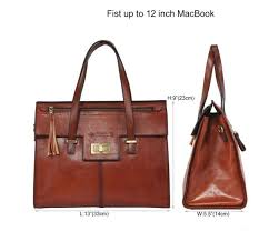 banuce vintage full grain real leather handbags for women tassel las tote satchel messenger shoulder bag purse