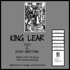 King Lear Test Qs And Ap English Literature Free Response Question