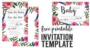 Floral Invitation Free Printable Invitation Templates