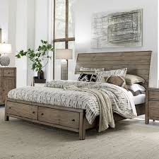 gray wood bed frame. Beautiful Gray Tildon Wood Sleigh Storage Bed In Mink On Gray Frame