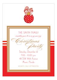 Merry Christmas Ornament Invitation
