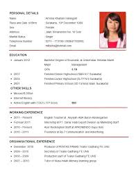 sample cv resume - Jianbochen.memberpro.co