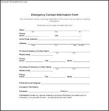 Personal Contact Template New Customer Information Form Template Employee Details