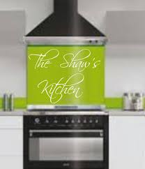 Lime Green Kitchen Appliances Premier Range Glass Splashback Upstands In Various Colours 1000mm