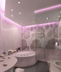 Outdoor   Modern Bathroom Lighting In White Themed - Bathroom led lights ceiling lights