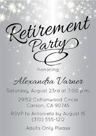 Retirement Luncheon Flyer Silver Retirement Party Invitation