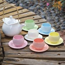 modernrainbowdesignflowerycolorfulceramicteaset highqualitycreativeweddingbirthdaymothersday