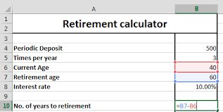 Best Excel Tutorial Retirement Calculator