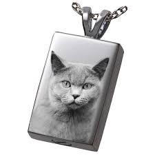 laser engraved pet photo shown on back