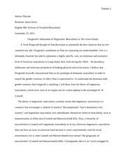 great gatsby essays steps to writing american dream essay great  essay on s masculinity as depicted in the great gatsby essay on 1920s masculinity as depicted