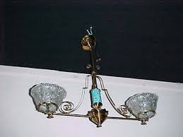 victorian longwy 2 arm gas chandelier 269