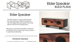 Diy Bluetooth Speaker Design Elder Bluetooth Speaker Diy Build Plans Kma Speaker Kits