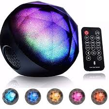 DRILLPRO LED Color Changing Bluetooth Speaker,Portable Wireless Speaker -  LED Ball Speaker with Enhanced Bass, Cool LED Lights and Multifunctional  Remote ...