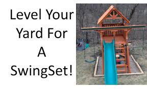 how to level a yard for playset installation