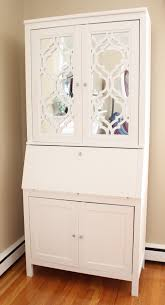 diy mirrored secretary desk using hemnes secretary with add on unit white