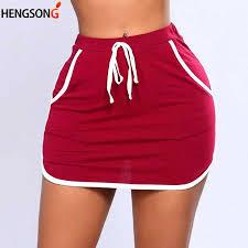 <b>2018 Summer</b> Ladies <b>Sexy Skirt</b> White Sides Swearpants High ...