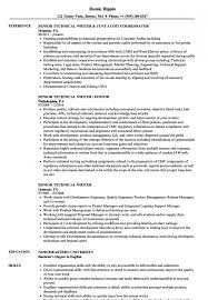 Writer Resume Simple Resume Template Technical Writing Resume Examples Sample Resume