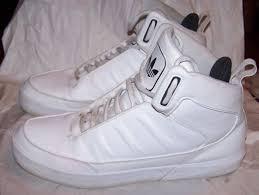 adidas 004001. adidas hightops white on leather mens size 11.5 us evm 004001 adidas u
