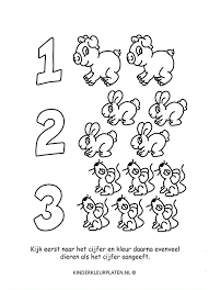 Kleurplaat Dieren Tellen Muizen Spelletjes