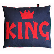 floor cushions for kids. Kids Floor Cushion - King Red On Denim Cushions For